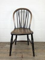 Set of Four 19th Century Ash and Elm Hoop Back Chairs (5 of 13)