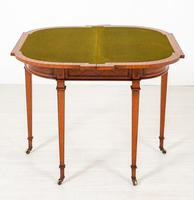 Satinwood Card Table in the Hepplewhite Style (6 of 8)