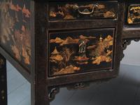 Chinese Gilded & Black Lacquered Desk (14 of 20)