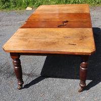 1920's Mahogany Dining Table with 2 x Leaves and Handle (6 of 6)