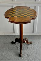 19th Century Inlaid Burr Walnut, Games Table (3 of 9)