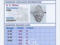 1.18ct Diamond & 14ct White Gold Dress Ring c.1930 (6 of 9)