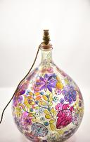 1960s Hand Painted Demi John Lamp with Floral Pattern (5 of 22)
