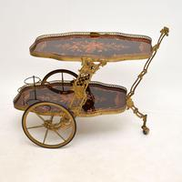 Vintage Italian Brass & Marquetry Drinks Trolley (3 of 14)
