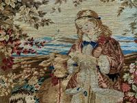 Large Beautiful Framed Original 19thc German Berlin Needlework Tapestry Picture (5 of 15)