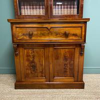 Superb Quality Victorian Mahogany Antique Glazed Secretaire Bookcase On Cupboard (7 of 8)