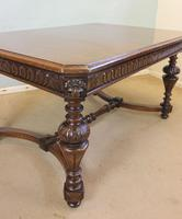 Antique Carved Oak Dining Centre Table (5 of 12)