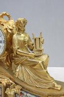 French Napoleon III Bronze Gilt Mantel Clock by Miroy Freres (5 of 13)