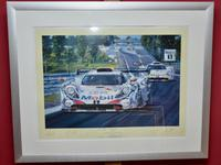 Porsche Gt1 Limited Edition  Framed Print by Nicholas Watts