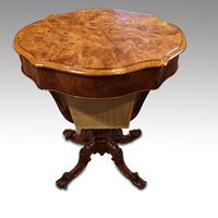 Victorian Oval Walnut Work Table (5 of 8)