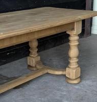 French Bleached Oak Refectory Farmhouse Dining Table (14 of 26)