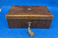 Victorian Nickel / Silver Bound Burr Cedar Box (2 of 11)