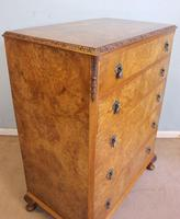 Burr Walnut Chest of Drawers c.1930 (10 of 12)