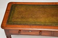 Antique  Victorian Mahogany  Leather Top Writing Table / Desk (9 of 10)