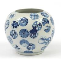 Chinese Blue & White Porcelain Globular Vase (5 of 6)