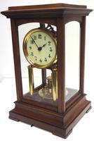 Rare Gustav Becker 400-day Torsion Clock German Mantel Clock Mahogany & Bevelled Glass Case (4 of 13)