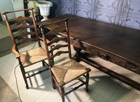 Large Oak Extending Dining Table (14 of 18)