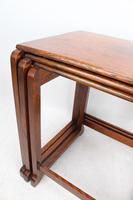 Small Art Deco Nest of Oak Tables (7 of 13)