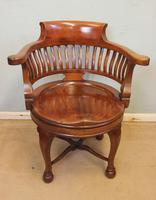Antique Quality Mahogany Revolving Desk Chair