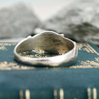 The Medieval Silver Hand on Heart Ancient Ring (5 of 6)