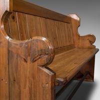 Antique Hallway Bench, English, Pine, Reception, Pew, Ecclesiastic, Victorian (10 of 12)