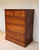 Late 19th Century Walnut Chest of Drawers (2 of 12)