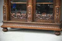 Anglo Indian Carved Rosewood Glazed Cabinet (5 of 14)