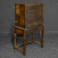 Late Victorian Leather Bound Cupboard on Stand (3 of 10)