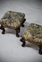 Pair of Antique Victorian Footstools (6 of 11)