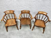 6 Smoker's Bow Armchairs - 19th Century (5 of 6)