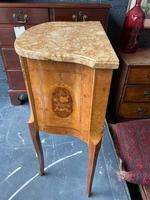 French Walnut Commode with Marble Top & Metal Marquetry (7 of 7)