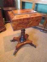 Fine Regency Period Rosewood Teapoy (5 of 12)