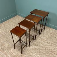 Stunning Set of Four Edwardian Antique Nest of Tables (3 of 5)