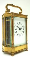 Rare & Unusual Cased Antique French 8-day Timepiece Carriage Clock c.1900 (9 of 10)