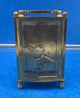 Early Gilt Brass 8 Day Carriage Clock (10 of 13)