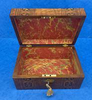 Victorian Mahogany Box with Tunbridge Ware Bands (7 of 15)