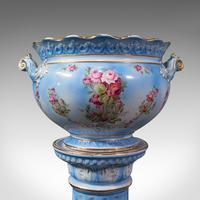 Antique Jardinière on Stand, English, Ceramic, Decorative Planter, Victorian (9 of 12)