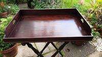 Early 19th Century Mahogany Butlers Tray with Stand (4 of 7)