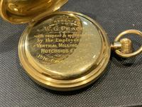 18ct Full Hunter Pocket Watch by Rotherham's of London (8 of 12)