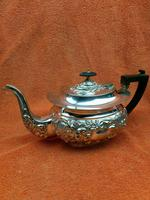 Antique Silver Plated Teapot JB Chatterley & Sons Ltd c.1920