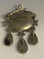 Antique Georgian Silver Garnet & Marcasite Brooch (3 of 8)