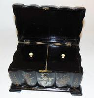 Victorian decorated papier mache tea caddy (5 of 6)