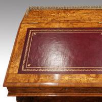 Victorian Antique Inlaid Walnut Davenport (13 of 13)
