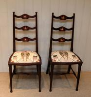 Pair of Beechwood Art Nouveau Chairs (4 of 10)