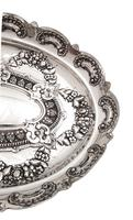 """Antique Victorian Sterling Silver 8"""" Dish / Bowl 1882 (2 of 8)"""