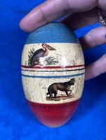 19th Century Skittles Game in Tunbridge Ware White Wood Painted Egg (21 of 21)