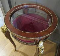 French Circular Bijouterie Table in Walnut & Kingwood 19th Century (8 of 9)