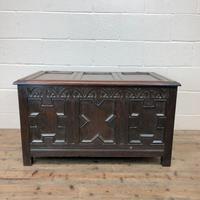 Antique Oak Coffer Blanket Box (3 of 11)