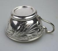 Eduard Friedman - Extremely Rare 800 Solid Silver Vienna Cup & Saucer 1900 (12 of 15)
