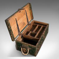 Small Antique Mariner's Trunk, English, Pine, Chest, Late Victorian c.1900 (9 of 12)